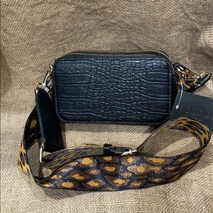 Black With Cheetah Strap Steve Madden BRAND NEW